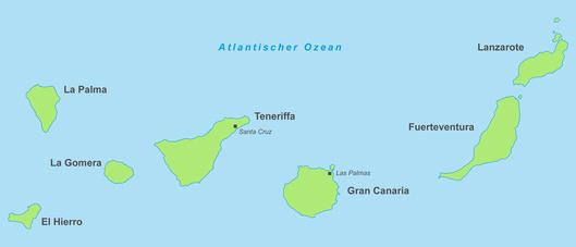 Übersichtskarte - Kanarische Inseln